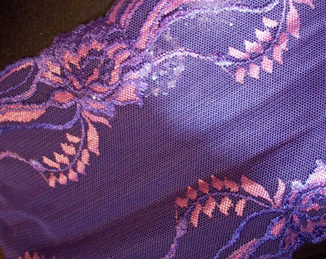 purple lace with pink