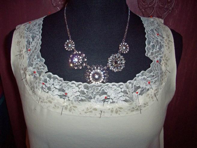 wider lace at neckline