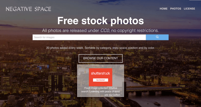 Free stock photos - search by copy space