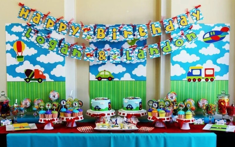 Transportation dessert table