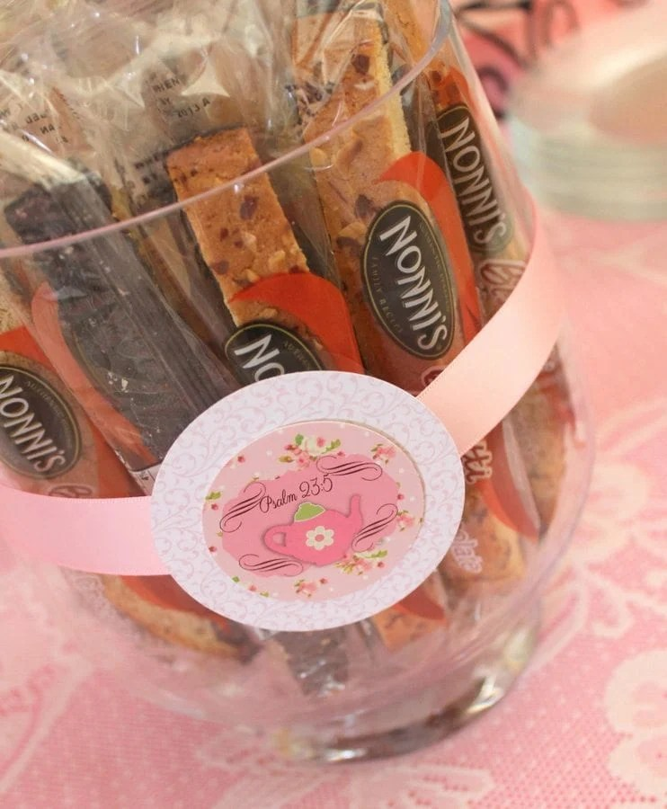 My Cup Runneth Over - A Tea Party On A Budget - biscotti