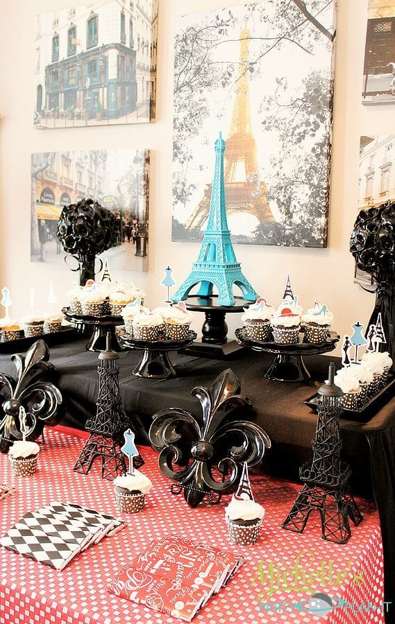 french parisian party ideas for a girl birthday paris party paris cakes decorations and. Black Bedroom Furniture Sets. Home Design Ideas