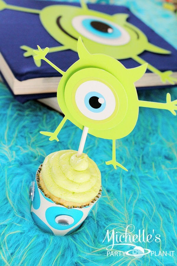 monster cupcake topper