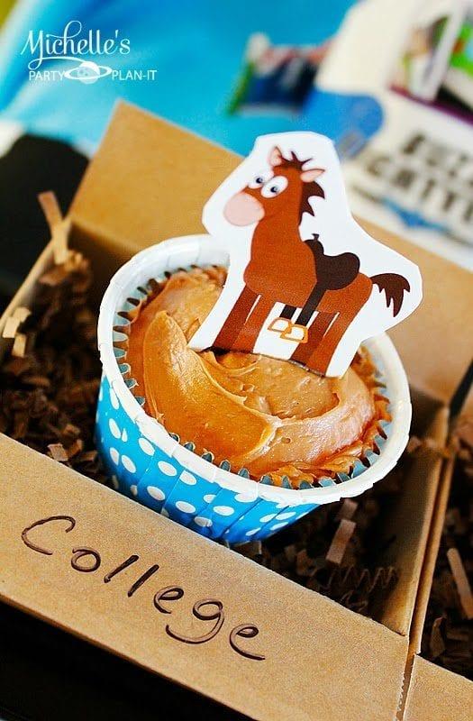 Bullseye Cupcake Toppers