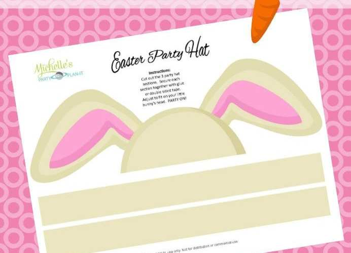 Free Easter Printable – Bunny Ears Party Hat