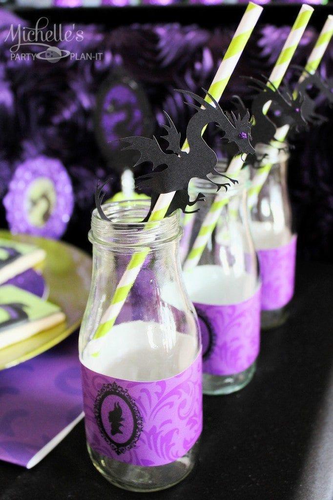 Maleficent Party Ideas - Maleficent Dragon Straws