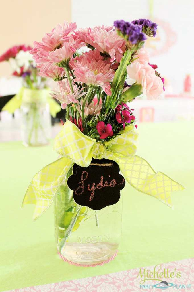 Flowers with name cards