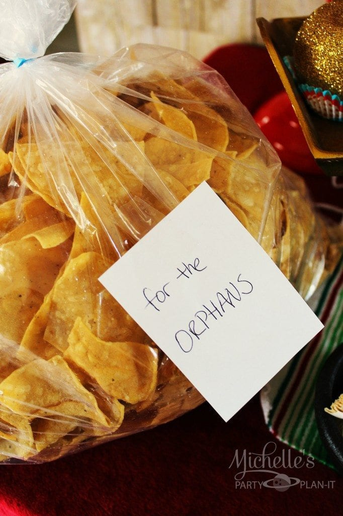 Nacho Libre Party - orphans chips