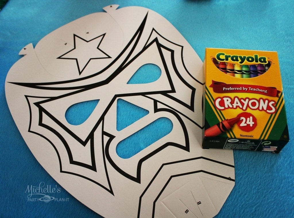 Nacho Libre Party Activity Masks