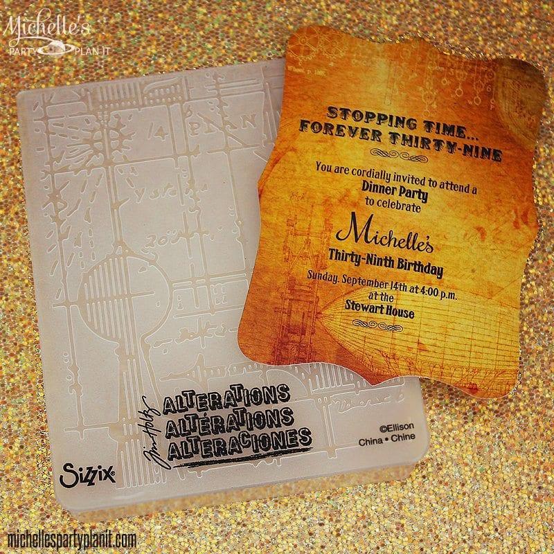 Steampunk Party Invitation Sizzix Tutorial Michelles Party – Indiana Jones Party Invitations