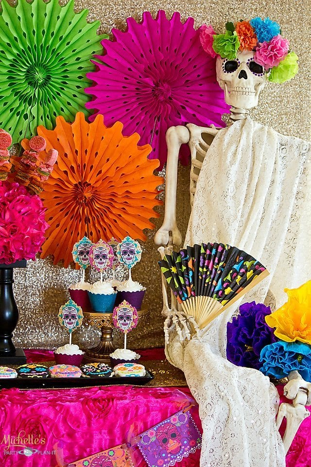 Day of the Dead Party Table and props