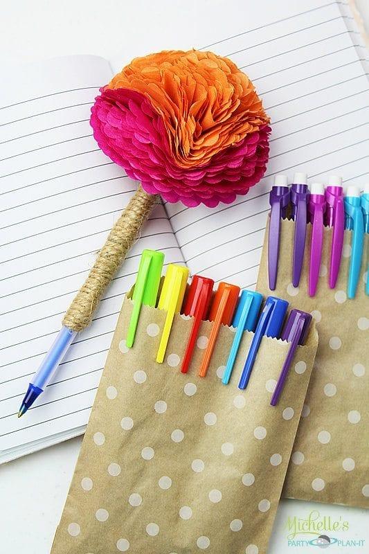 Diy Tissue Paper Flower Pen Michelle S Party Plan It