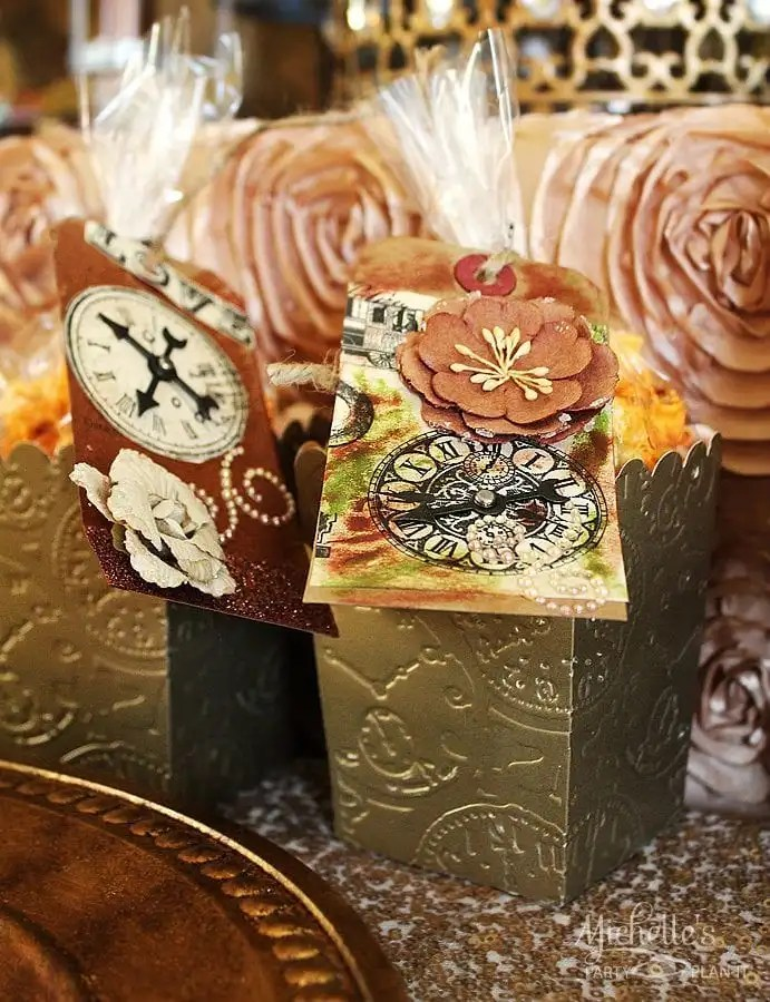 Steampunk Favor Boxes
