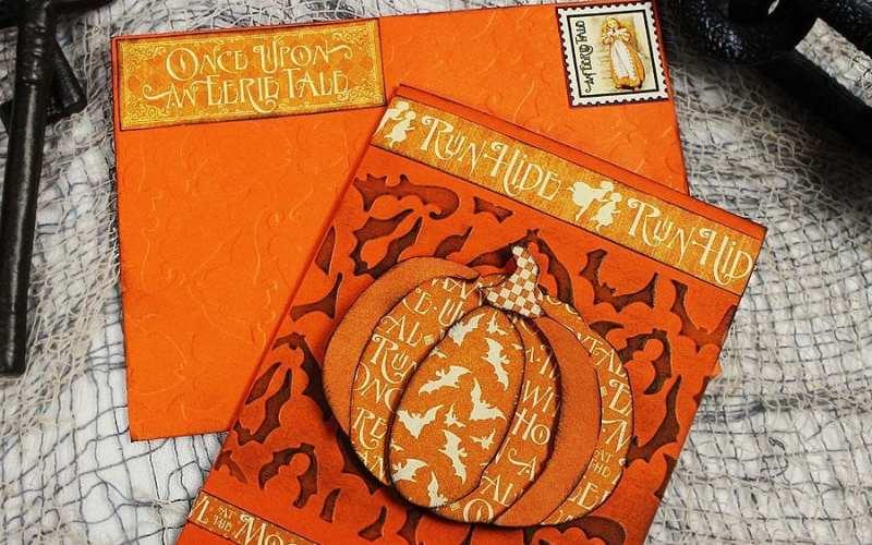 Pumpkin Halloween Card |Sizzix Tutorial