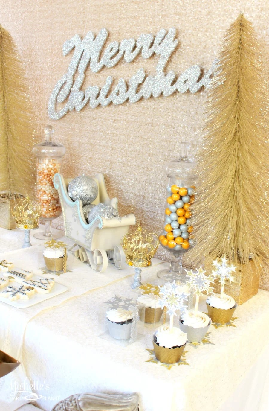 Gold Amp Silver Christmas Party Ideas Michelle S Party Plan It