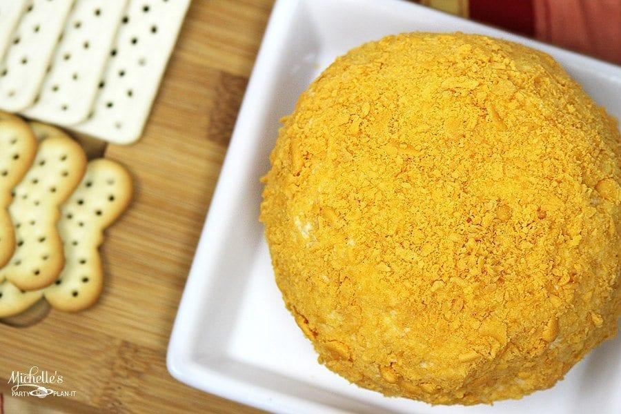 Goldfish Cracker Crusted Cheese Ball Recipe