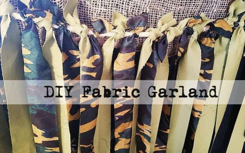 Army party garland diy