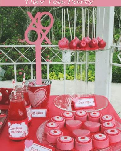 Valentines day tea party
