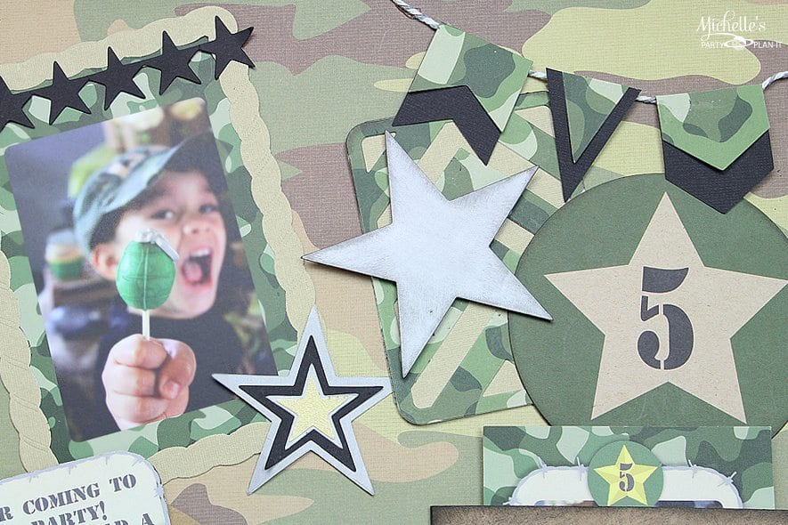 Army Party Scrapbook Page