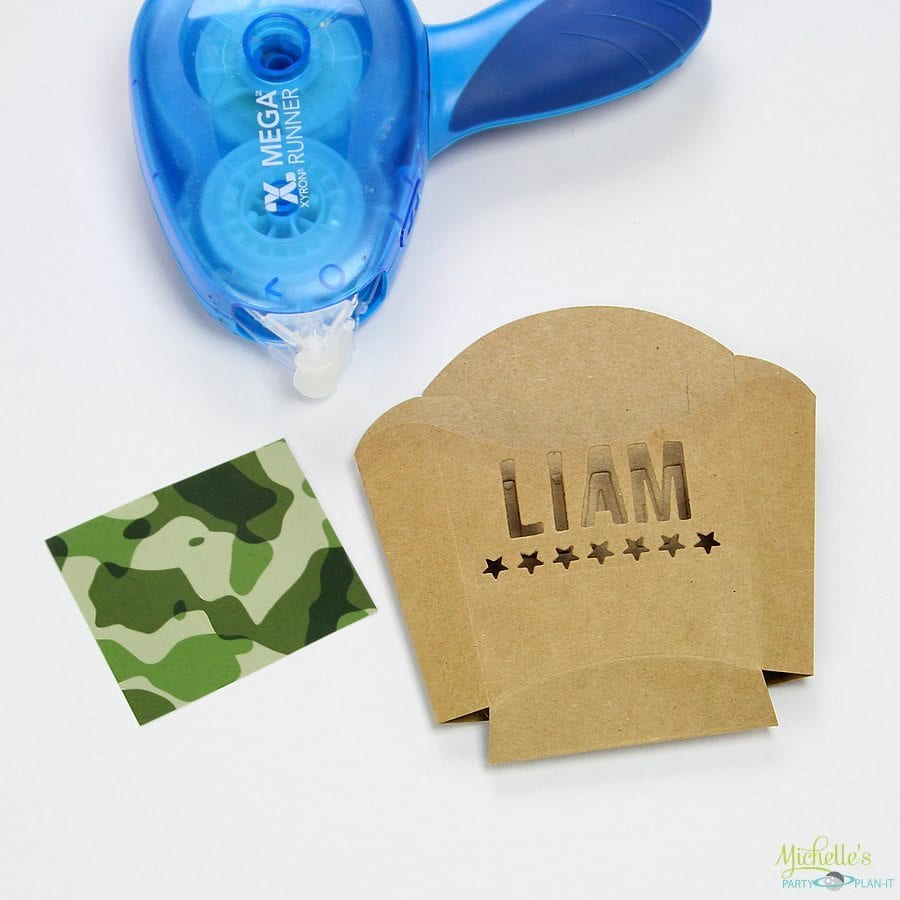 Army Party Treat Boxes
