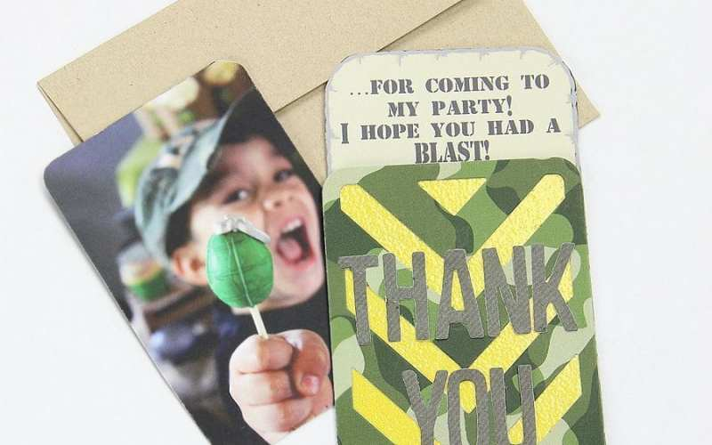 Army thank you cards
