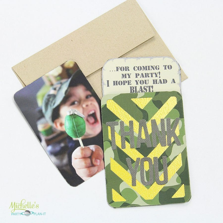 Army Party Thank You Cards