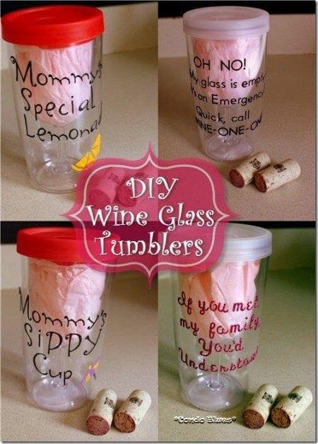 DIY wine tumbler personalized