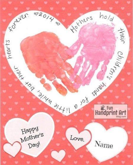 Handprint Heart Card