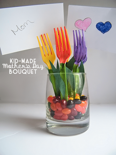Kid Made Mother's Day Bouquet