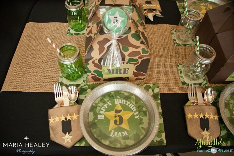 Army Party Table