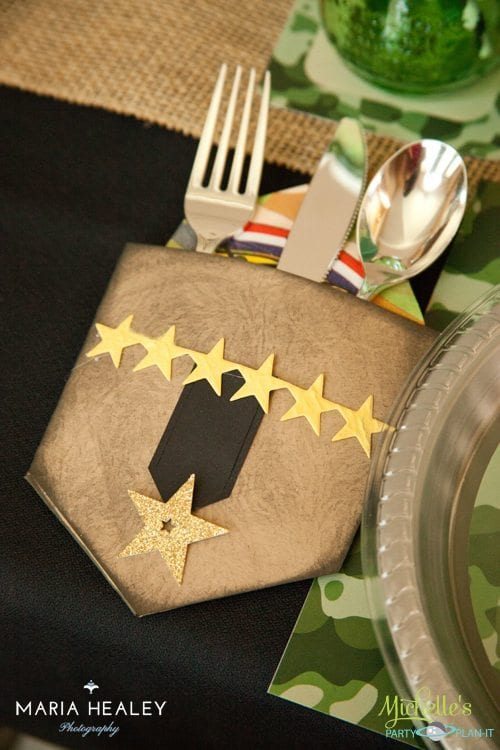 Army Party Tablesetting