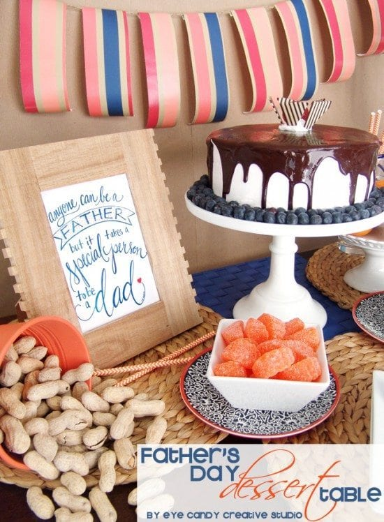 Father's Day Dessert Table