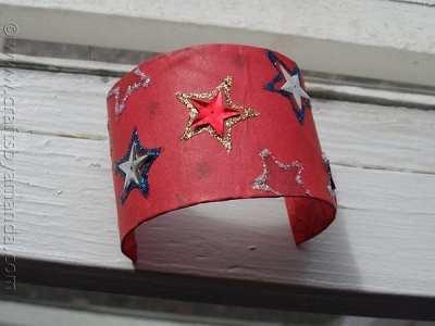 Patriotic-Cardboard-Tube-Bracelet