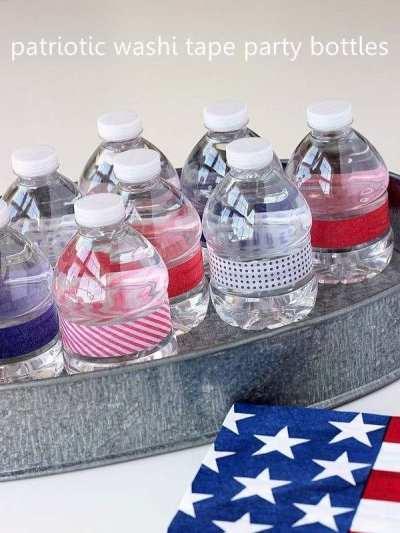 Washi Tape Water Bottles