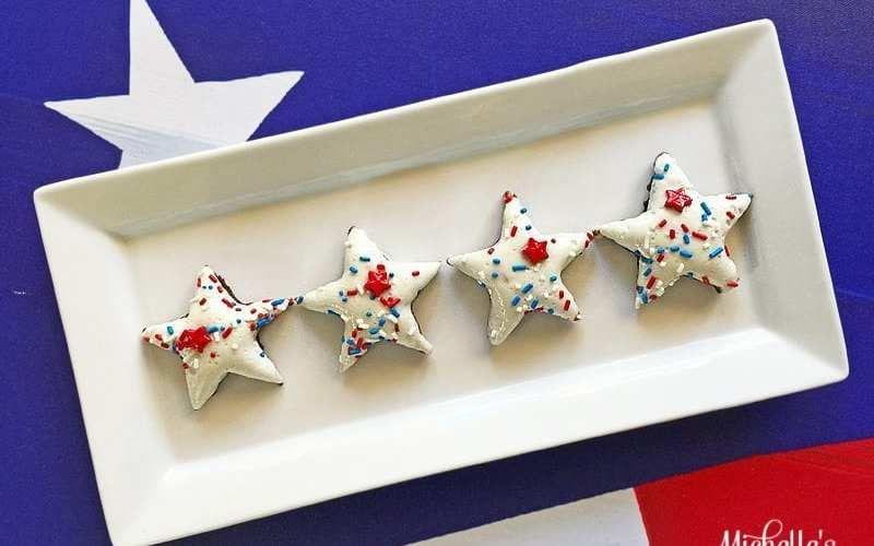 Patriotic Marshmallow Brownies Recipe  Party Gals Linky Party #1