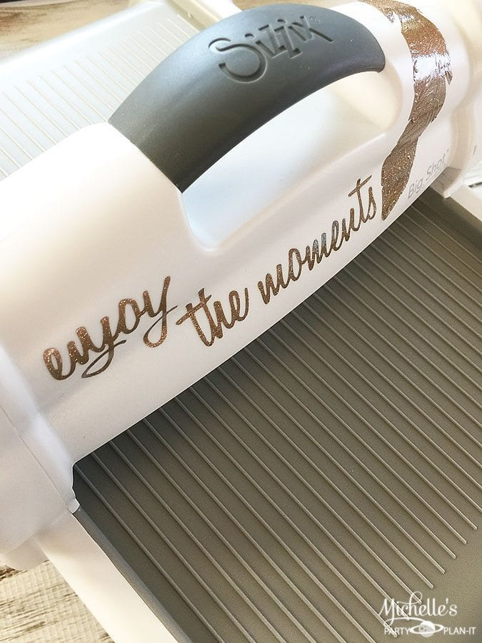 How to Personalize Your Sizzix Big Shot Plus with Vinyl