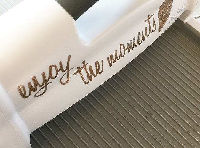 How to emboss vinyl with the big shot plus
