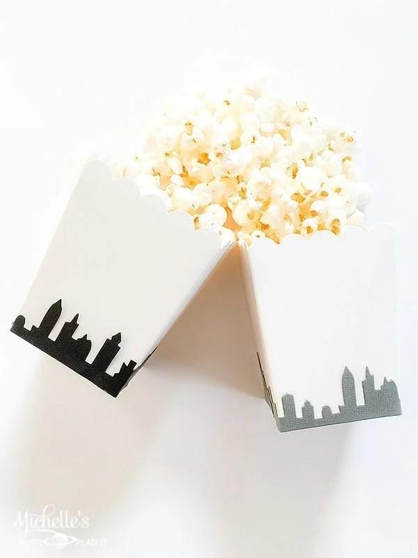 Easy DIY Big City Popcorn Boxes Tutorial