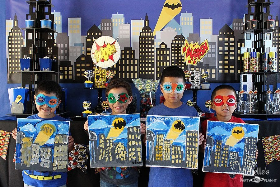 Super Hero Paint Party