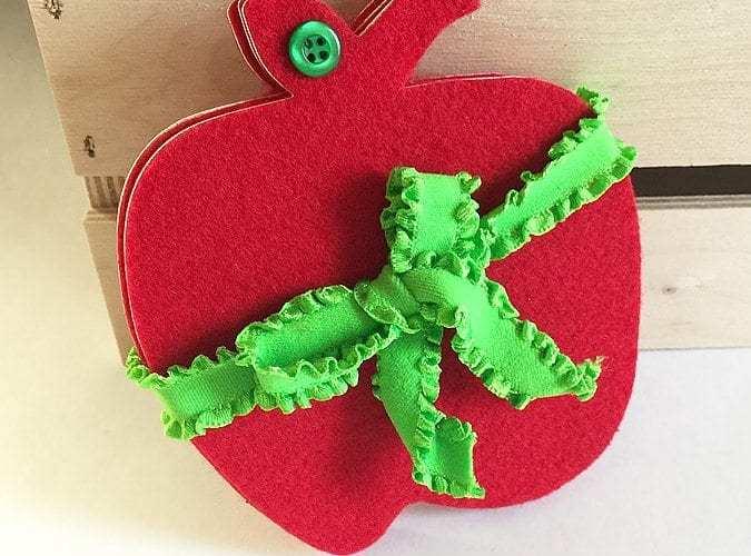 DIY Felt Apple Coasters   Classrooms With Felt Project Blog Hop