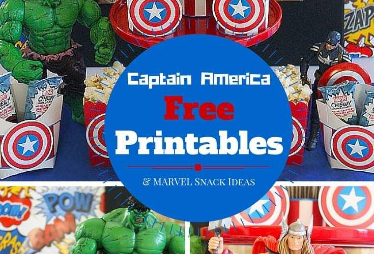 Free captain america printables