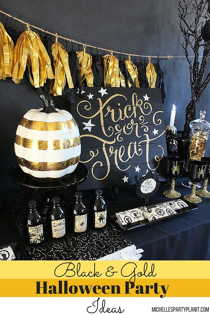 black-n-gold-halloween-party-ideas