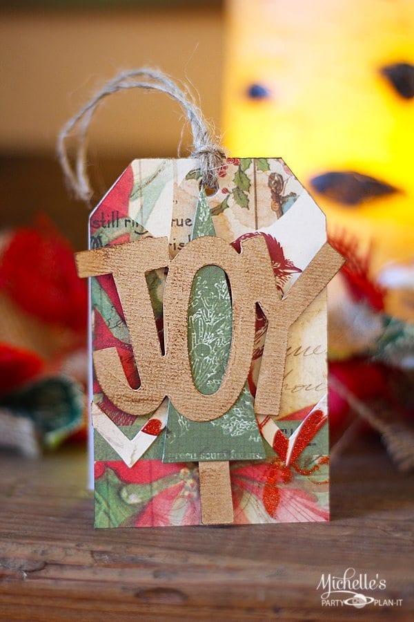 Easy Christmas Gift Tag | Tutorial