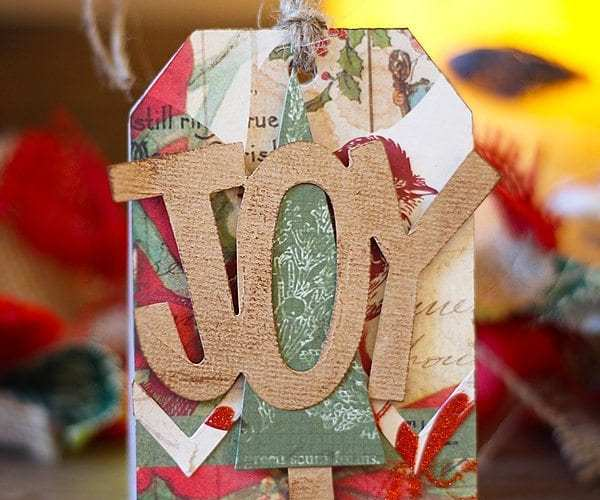 Easy Christmas Gift Tag | Tutorial