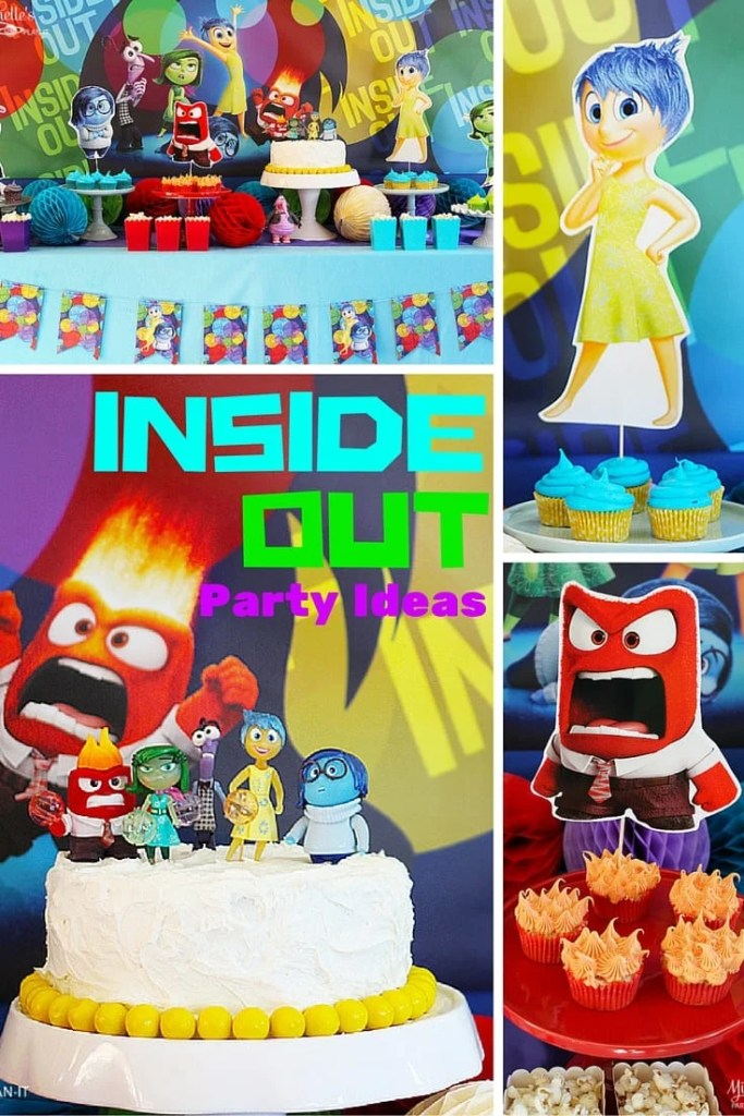 Inside Out Party Ideas | Party Decor and Desserts