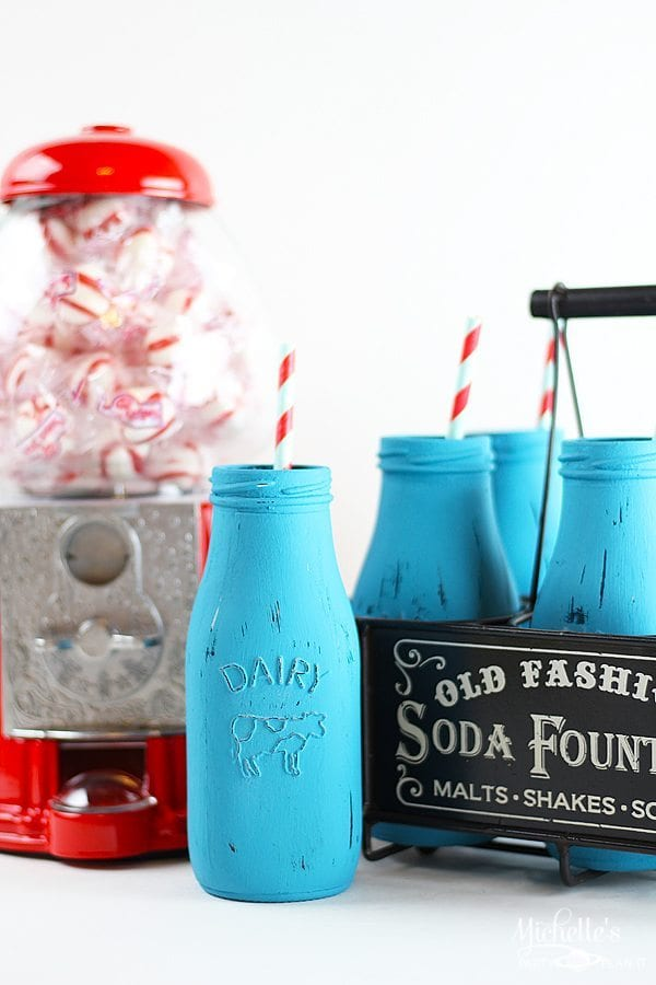 Easy Decorative Retro Milk Glasses | Handmade Holidays Blog Hop