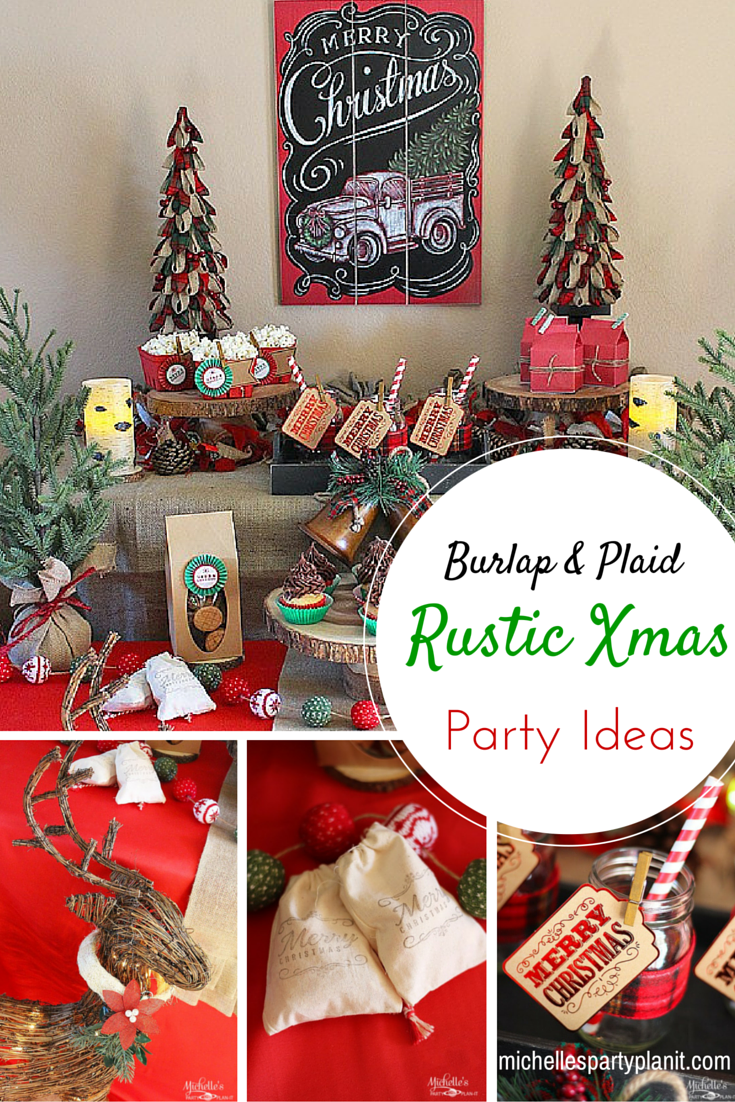 Easy Rustic Christmas Party Decor And Dessert Table