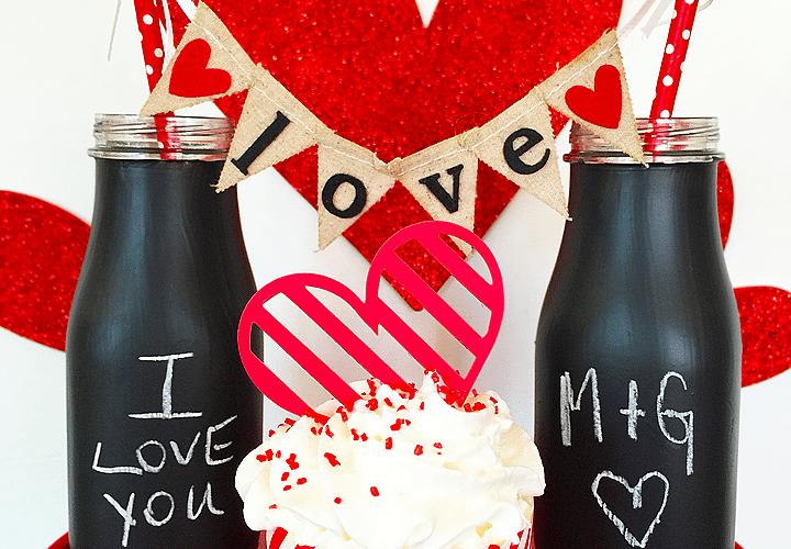 Love Note Chalkboard Glasses   Valentine's Day Craft