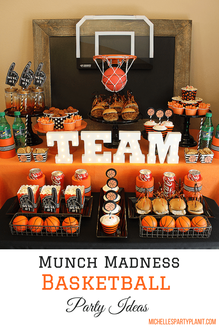 Munch Madness Basketball Party Ideas Michelles Party