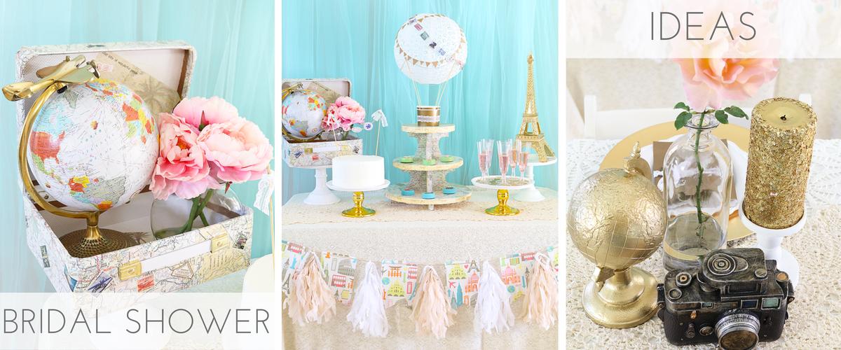 Travel Themed Bridal Shower Ideas